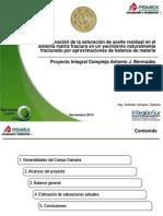 Saturacion de Agua Aceita y Gas en La Matriz y Fractura