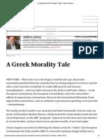 A Greek Morality Tale