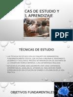 Tc3a9cnicas de Estudio y Del Aprendizaje Diapositivas