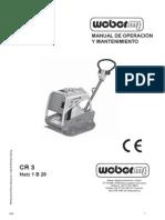 CR 3 E - Diesel - Arranque Manual - Manual de Uso y Mantenimiento