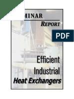 Efficient Industrial Heat Exchangers