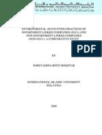 Comparative Studies GLC & Non-GLC