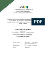 PROPUESTA DEL PROGRAMA DE SEGURIDAD Y SALUD LABORAL DE LAS OFICINAS ADMINISTRATIVAS DE UNA EMPRESA DEL SECTOR DE ALIMENTOS, UBICADA EN LAS MERCEDES, PARA EL AÑO 2012