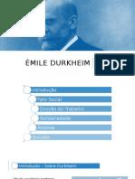 Resumo sobre Durkheim