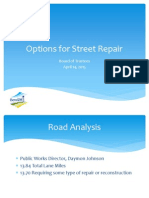 Options for Street Repair (PPT)