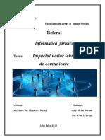 Impactul Noilor Tehnologii de Comunicare, Sirbu Dorina, Gr. IV, An. I