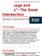 language and culture spoken synthesis paper