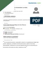 Cv Carmen Del Rosario Pichilingue La Rosa