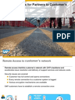 Remote Access for Partners to Customer's Landscape