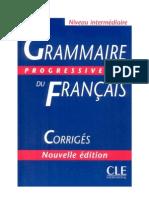 Grammaire Progressive Du Francais Niveau Intermediaire Avec 600 Exercices CORIGEE