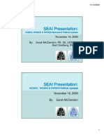 SEAI Presentation- NCSEA NWSEA Updates 11-19-09