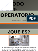 Complicaciones en El Postoperatorio