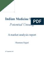 Market Analysis Report on Medicine Segment of Healthcare Industry