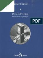 [Didier Eribon] de La Subversion Droit, Norme Et(BookFi.org)