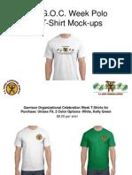 Garrison Organizational Celebration Shirt Mock Ups