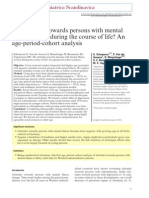 Do attitudes towards persons with mentalillness worsen during the course of life?
