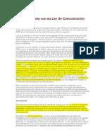 Ecuador cuenta con su Ley de Comunicación - Sally Burch