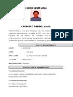 Curriculum Vitae. Dante Carrasco