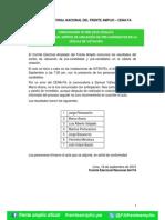 Comunicado 009 2015 CENAFA