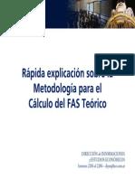 Metodolog+¡a para calcular el FAS desde el FOB