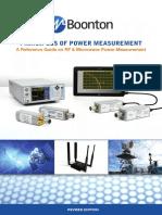 Principios de medición de potencia en RF