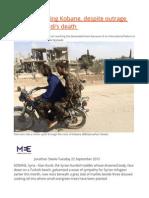 Aid Not Reaching Kobane, Despite Outrage Over Alan Kurdi's Death