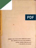 Modelo de Evolución Morfotectónica Del Sistema de Fallas de Romeral Entre Pereira (Risaralda) y Filadelfia (Caldas)