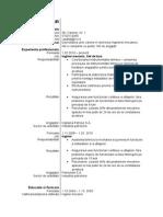 Model CV Tehnic