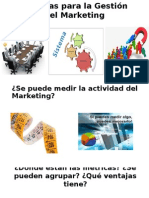 Métricas Para La Gestión Del Marketing