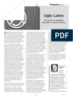 Ugly Laws - Disability Regulation
