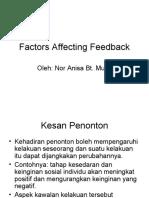 Factors Affecting Feedback