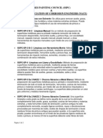 Resumen de requerimientos de limpieza SSPC-SP
