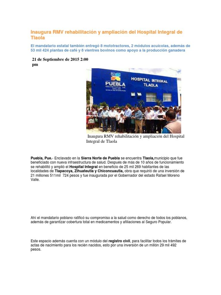 21 09 2015 Puebla Noticias Inaugura Rmv Rehabilitación Y