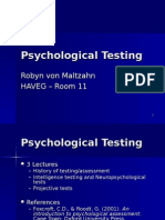301 Psychological Testing