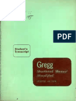 Gregg Shorthand Manual Simplified 2nd Ed Student's Transcript (1955)