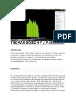 Thomas Edison y j.p. Morgan