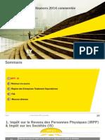 Presentation Loi de Finance Tunisie 2014 EY