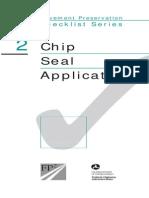 Checklist Chip Seal
