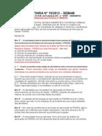 Portaria Municipal (SEUMA) Nº 15 de 2012 Com Alteração Da Portaria 26 de 2013
