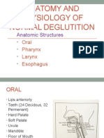 anatomy and physiology of normal deglutition