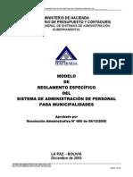 Modelo de Reglametno Especifico Sap Municipalidades