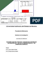PFACTORES QUE INFLUYEN EN EL CONSUMO DE CANNABIS EN ESTUDIANTES DE 3° AÑO DE LA PREPARATORIA No. 1 DE CUERNAVACA MORELOS.