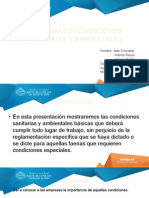 Principales Condiciones Sanitarias y Ambientales