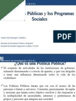 1- Las Políticas Públicas y Los Programas Sociales