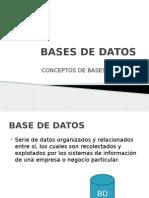 Bases de Datos -Unidad 1