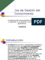 Modelos de Gestión Del Conocimiento Presentacion