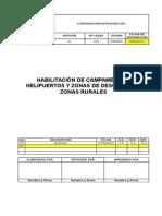 Habilitación de Campamentos, Helipuertos y Zonas de Descarga en Zonas Rurales
