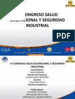 IV Congreso de Salud Ocupacional