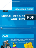 MODAL VERB CAN FOR ABILITIES