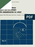 Manual  para una estrategia de comunicación en salud